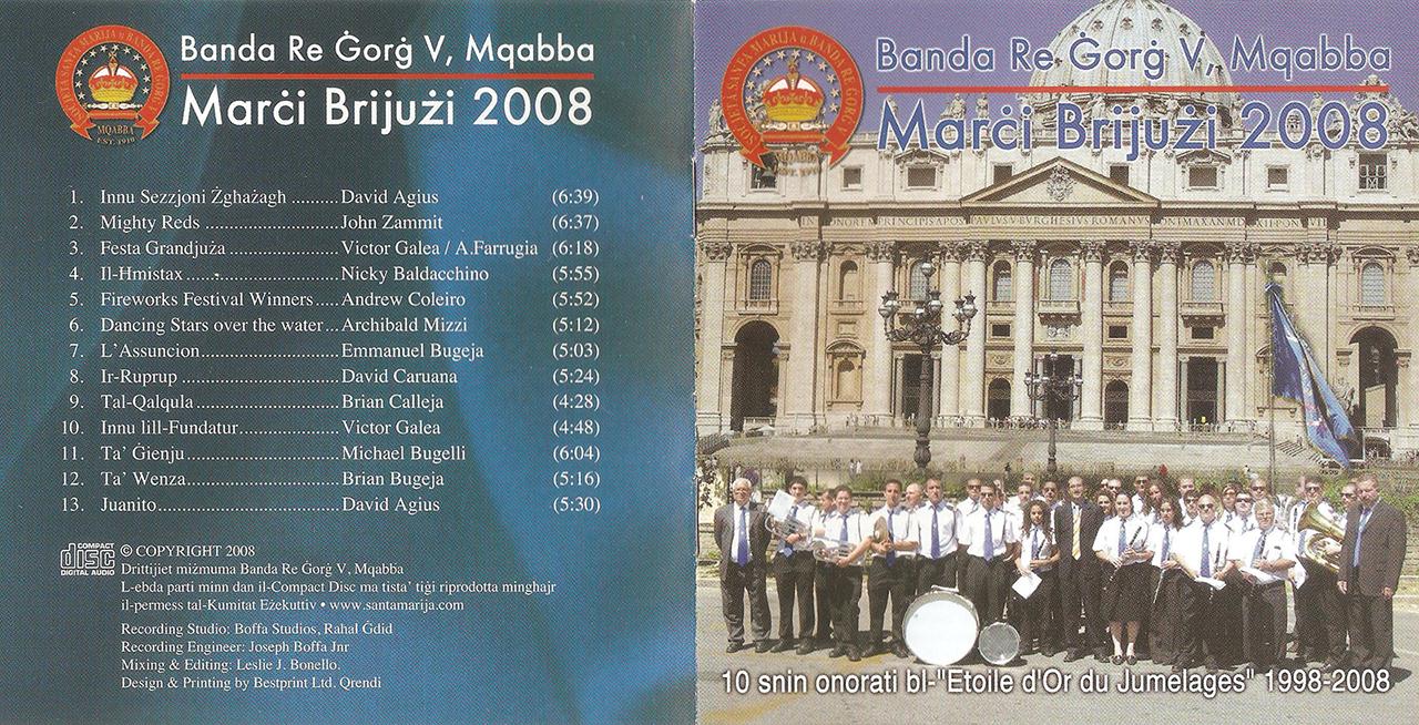 Banda Re Ġorġ V Mqabba, Malta – Marċi Brijużi 2008