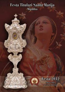 Programm tal-Festa Titulari  Santa Marija Mqabba – 2012
